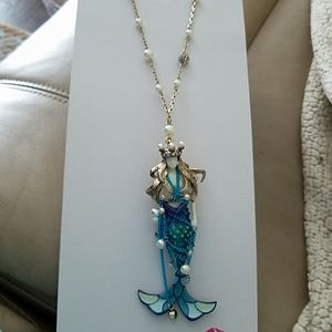 Statement mermaid necklace NWT